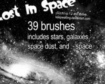 宇宙星空笔刷素材