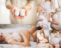 大肚子孕妇女性摄影高清图片