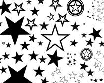 各种各样的五角星笔刷