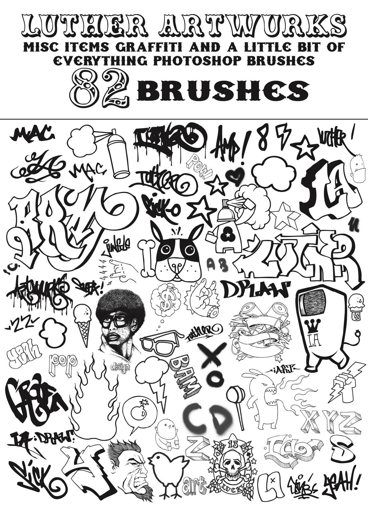 街头涂鸦元素笔刷素材 - 爱图网设计图片素材下载