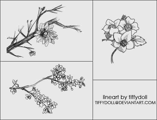 铅笔画花朵笔刷