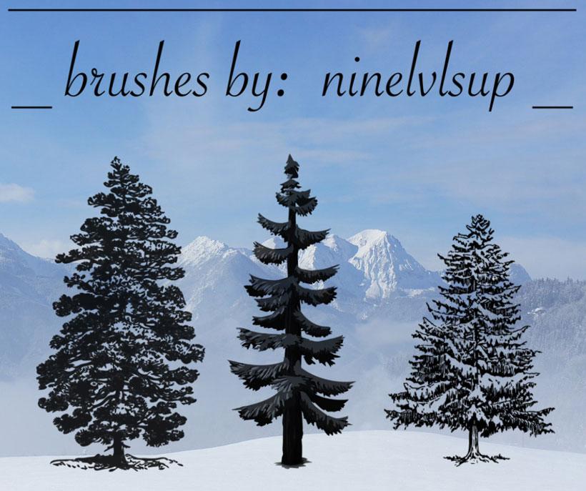 松树笔刷 - 爱图网设计图片素材下载