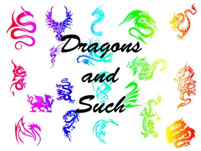 龍形紋身自定義形狀