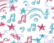 手绘音乐符号PS笔刷素材