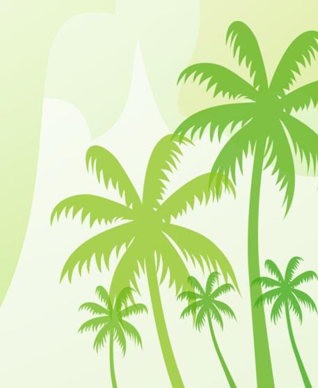 椰子树笔刷素材