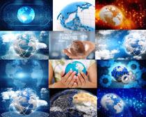 商务科技地球摄影高清图片