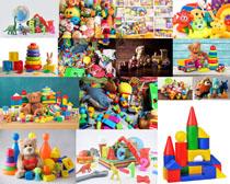 儿童积木玩具摄影高清图片