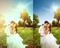 照片添加柔美光效PSD图层