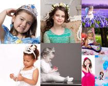 皇冠可爱女孩摄影高清图片