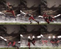 橄榄球运动员摄影高清图片