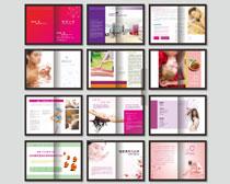 时尚美容养生画册设计模板矢量素材
