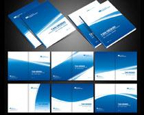 蓝色科技画册封面设计矢量源文件
