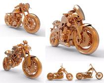 黄金摩托车摄影高清图片