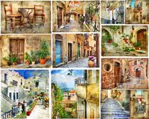 小鎮建筑風景攝影高清圖片