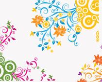 时尚植物花纹笔刷素材