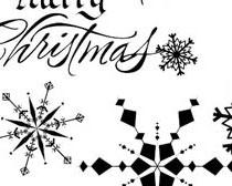 圣诞雪花笔刷
