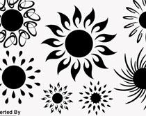 太阳花纹笔刷素材
