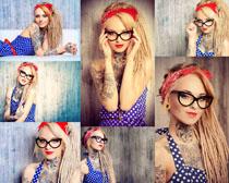 时尚纹身女人摄影高清图片