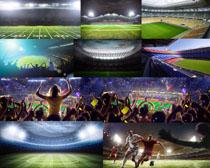 足球运动场地摄影高清图片
