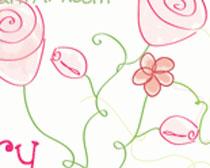 手绘线条花朵笔刷