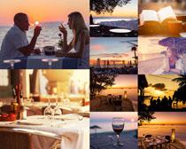 浪漫的海边风光摄影高清图片