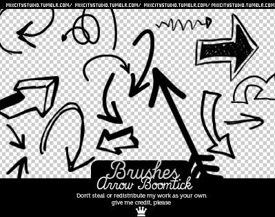 手绘涂鸦箭头笔刷