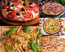 营养披萨食物摄影高清图片