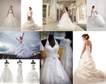 白衣婚纱美女摄影高清图片