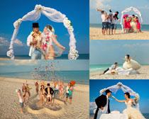 沙滩海边婚纱摄影高清图片