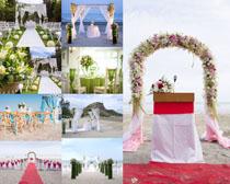 婚纱场景布置摄影高清图片