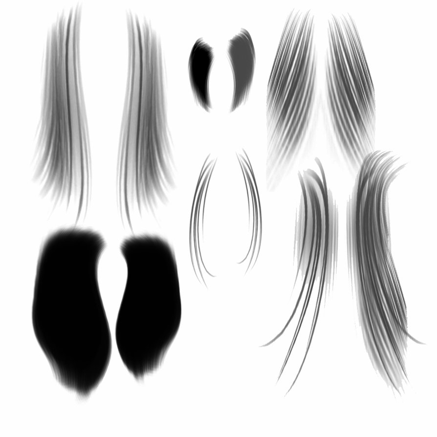 手绘头发笔刷