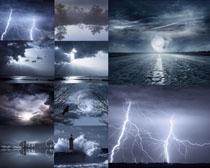 乌云与闪电景观摄影高清图片