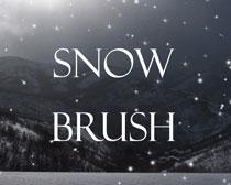 下雪雪花笔刷素材