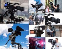 电视台摄影机拍摄高清图片