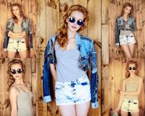 欧美时尚女模特摄影高清图片
