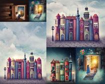 梦幻建筑小屋摄影高清图片