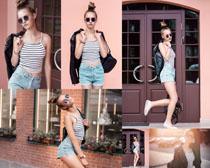 欧美潮流女孩写真摄影高清图片