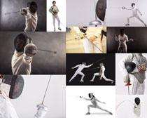 击剑运动人物摄影高清图片
