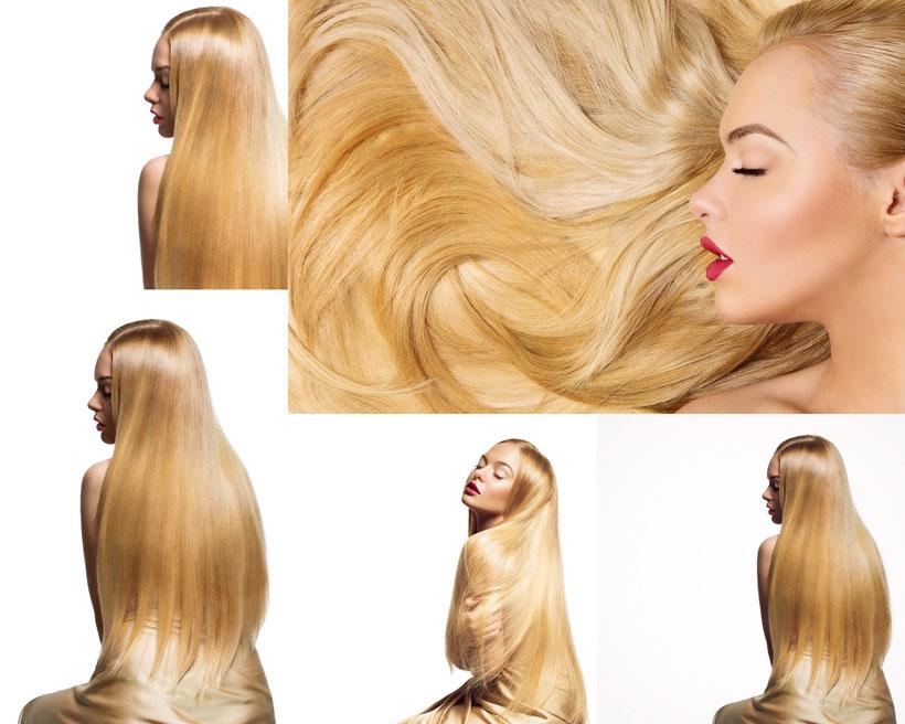 金发女子摄影高清图片