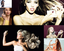香水与发型女子摄影高清图片