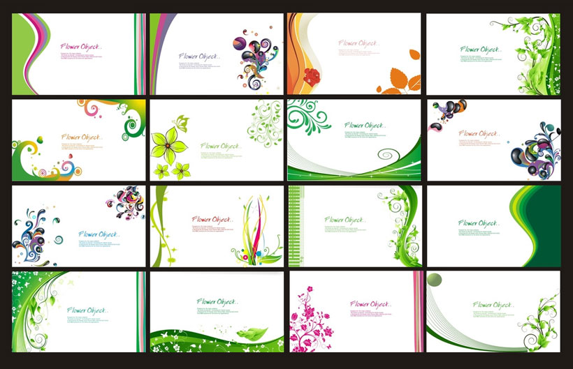 绿色华文化会名片设计矢量素材