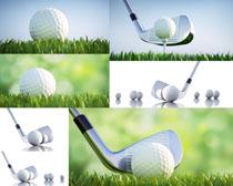 高尔夫装备摄影高清图片