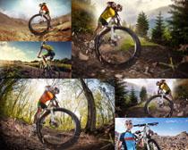 山地自行车男子摄影高清图片