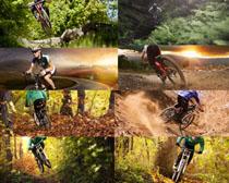 山地车运动员摄影高清图片