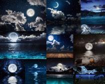 夜晚天空风景摄影高清图片