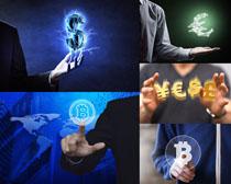 符号货币商务人物摄影高清图片