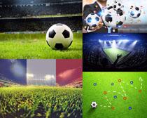 足球场地摄影高清图片