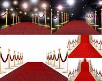 红色地毯装饰摄影高清图片