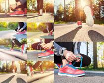 跑步的女子摄影高清图片