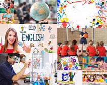 教师与学生讲课摄影高清图片